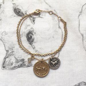 Coach Horse And Carriage Coin Bracelet 89854